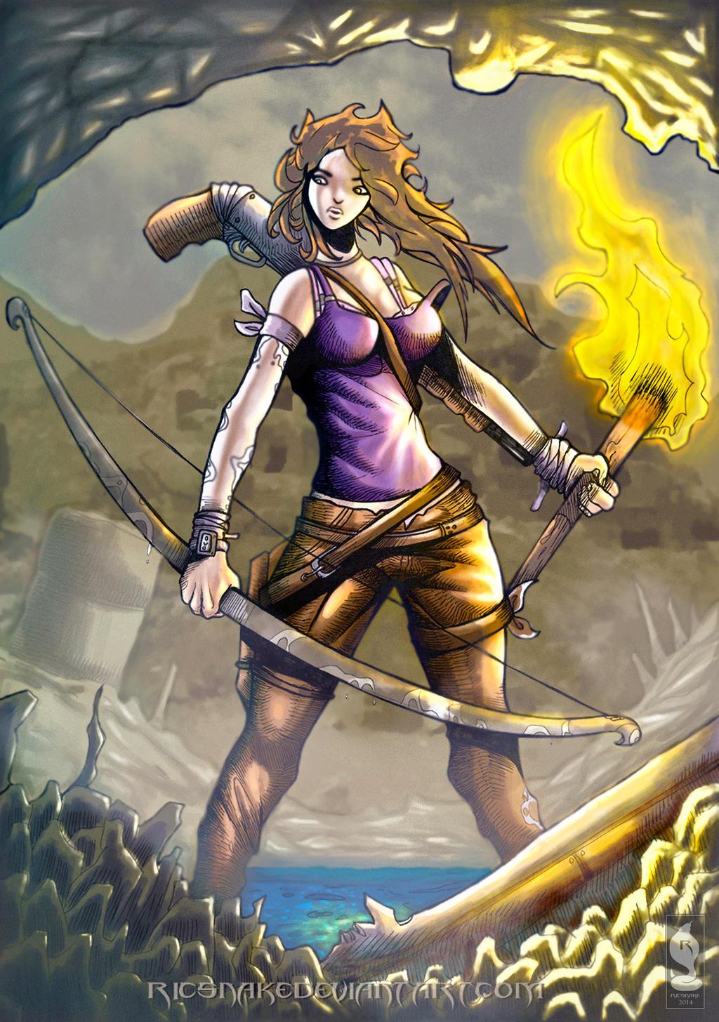 Lara croft contest DA by Ricsnake
