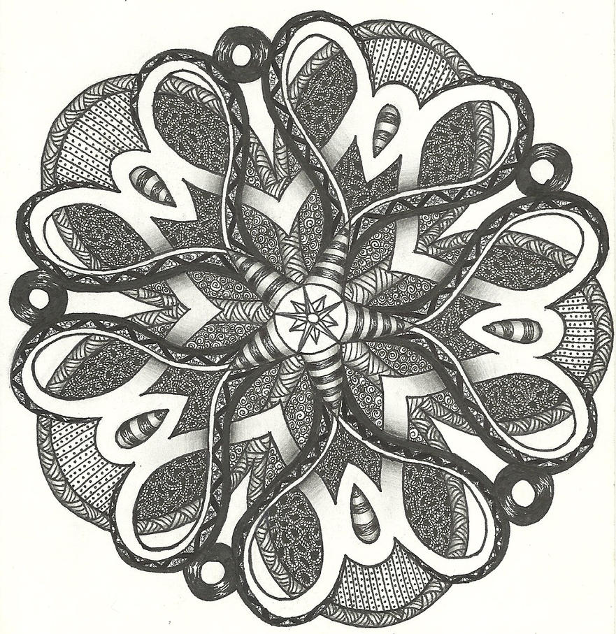 FAVORITE ZENTANGLE OF ALL TIME by Rozara