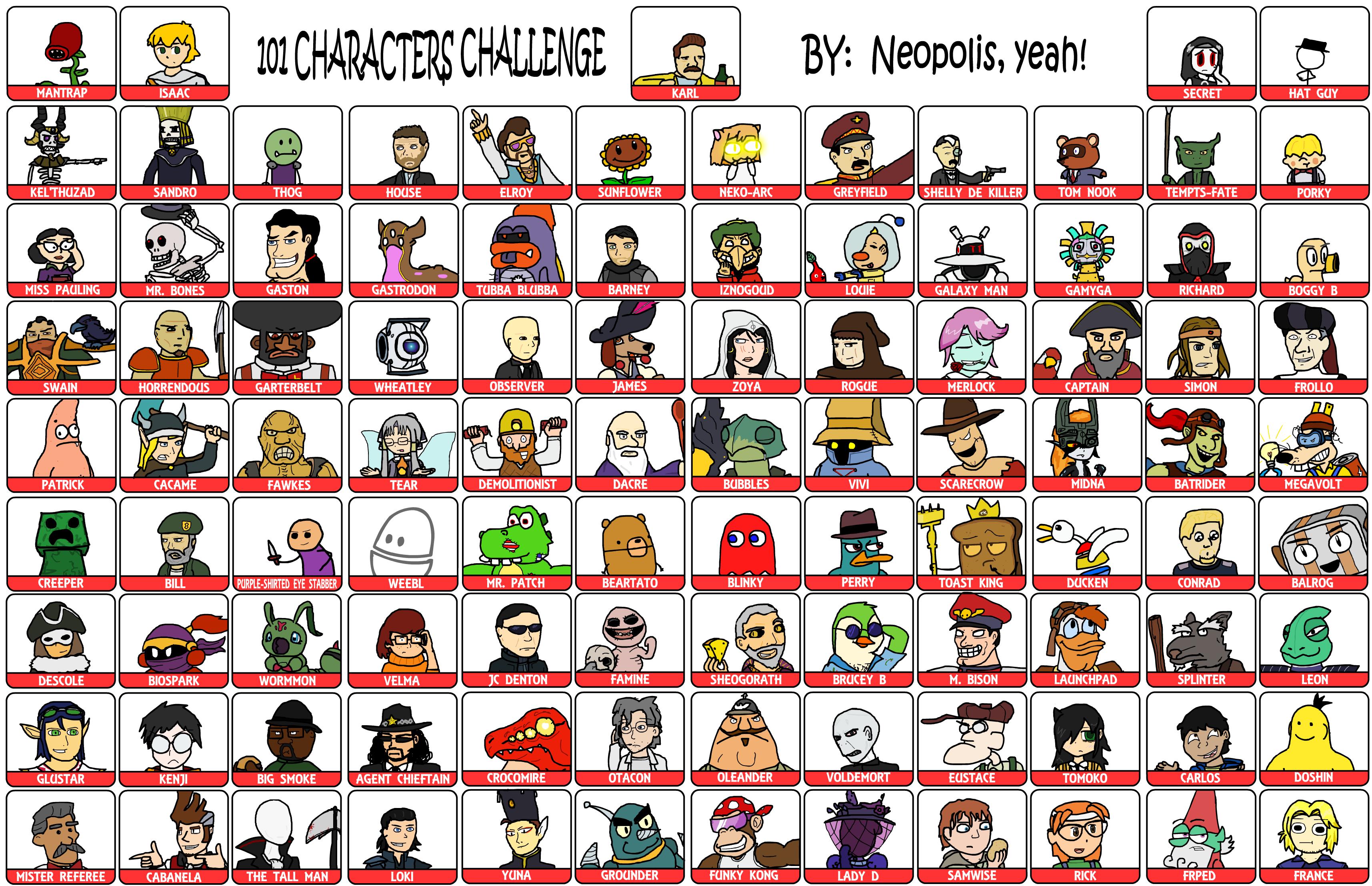101_characters_meme__final__by_neopolis d5bwzmy 101 characters meme (final) by neopolis on deviantart