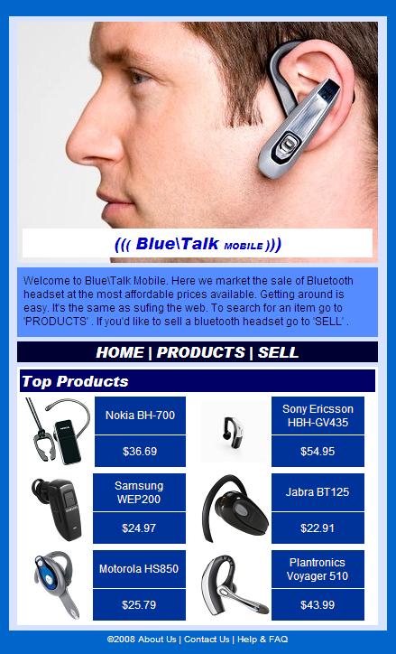 BlueTalk mobile prototype