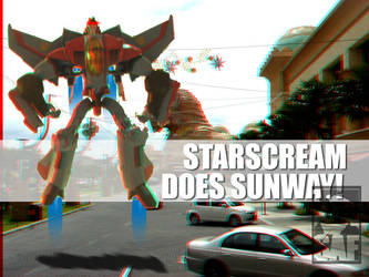 Starscream Anaglyph