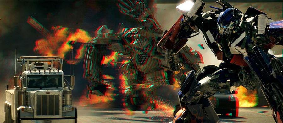 3D Optimus Prime + Bonecrusher