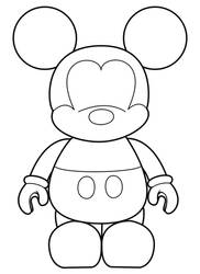 Mickey Vinylmation Template by errantscarecrow