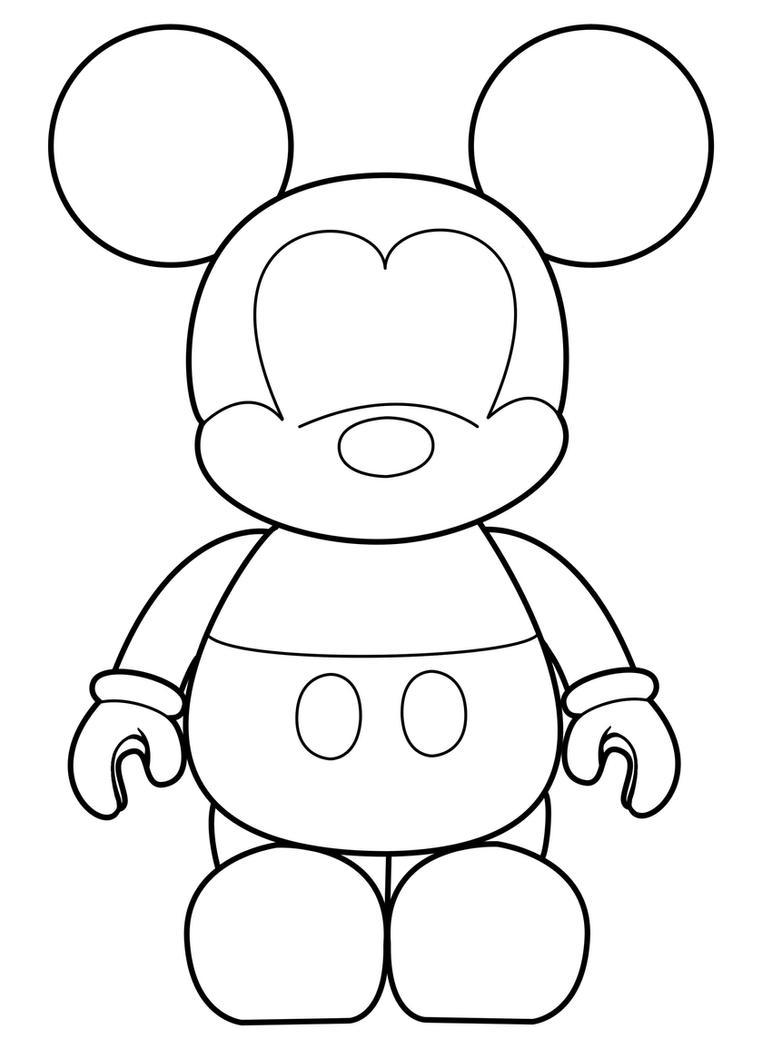 mad mimi templates - mickey vinylmation template by errantscarecrow on deviantart