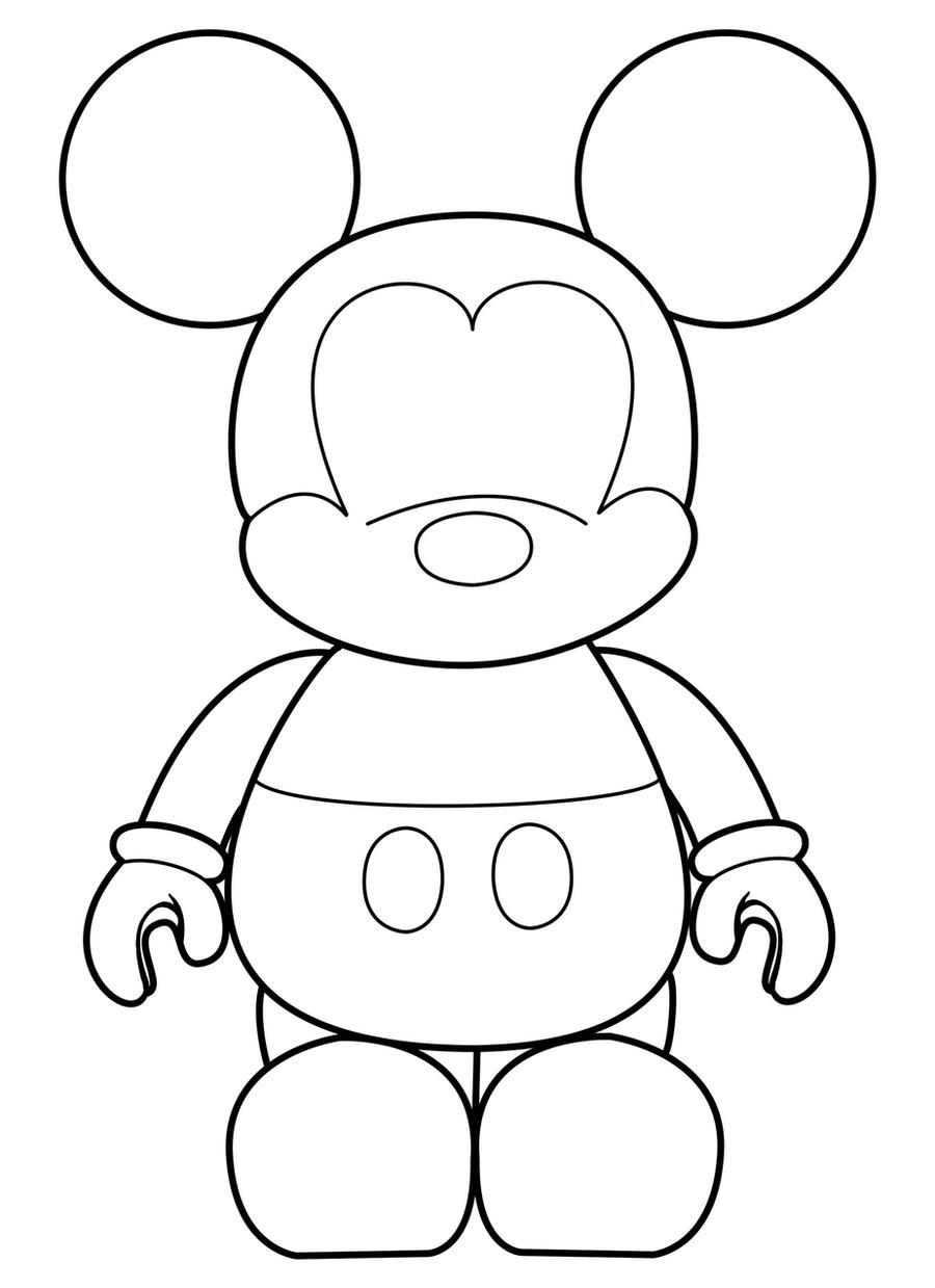 Line Art Mickey Mouse : Mickey vinylmation template by errantscarecrow on deviantart