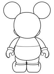 Mickey Vinylmation Backview by errantscarecrow