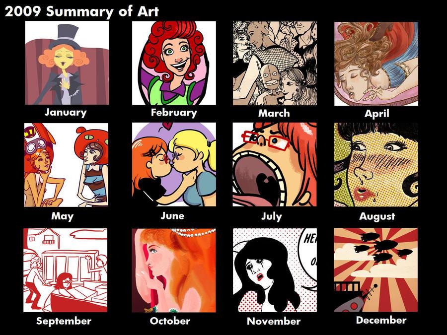 2009 Summary of Art by rosalarian