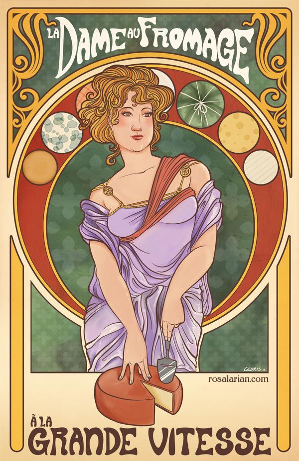 La Dame au Fromage a la Grande Vitesse by rosalarian