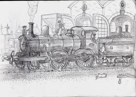 GER 2-4-0 Holden E4 steam loco by YanPictures