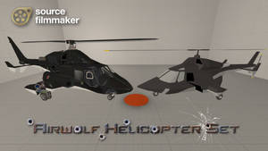 [SFM Model]  Airwolf Helicopter Set by YanPictures