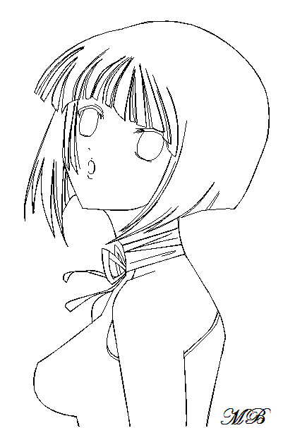 Ms Paint Anime Girl outline by MangaBunny12 on DeviantArt