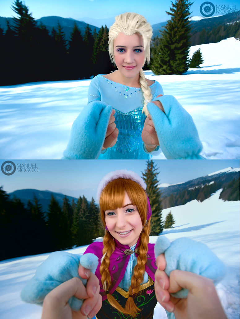 Elsa and Anna - Disney Frozen by Cheerful-Smile