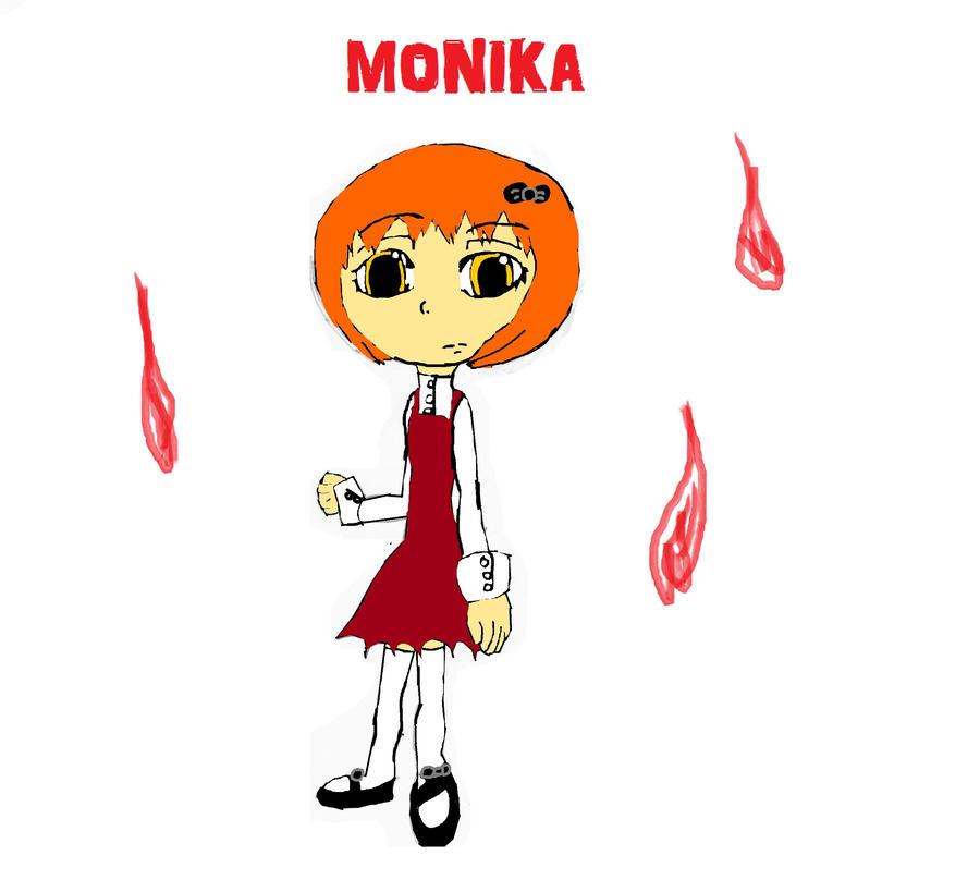 Monika the Undead by sasihasi1