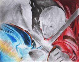 Dante vs Virgil by j2ag
