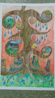 Watercolor Surreal- Tree of Life