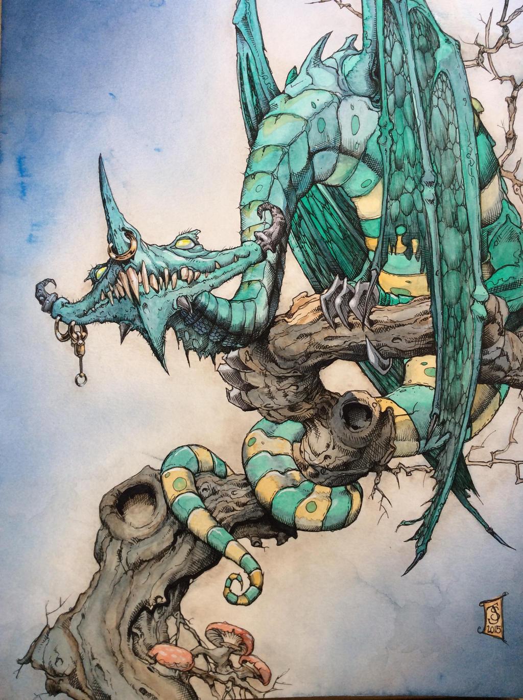 Tree Dragon by Shiantu