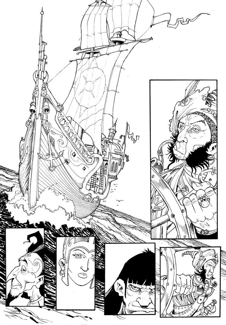 Another Wizard of Witchmaze page by Shiantu