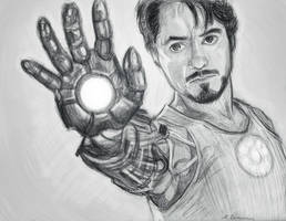 Tony Stark by Lariethene
