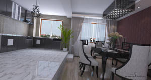 kitchen room by umutavci