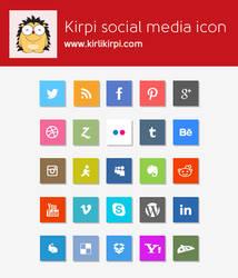 Flat Social Media Icons - Free PSD