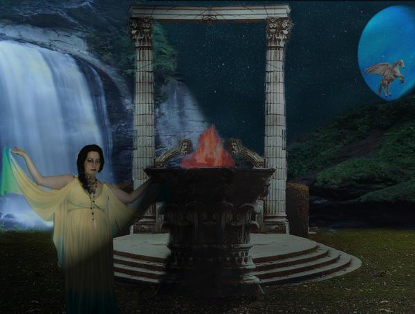 Hestia Earth Goddess by ardunt