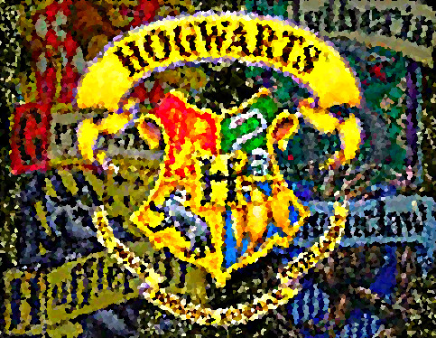 Hogwarts Crest Crystalized by Bizzyb1008