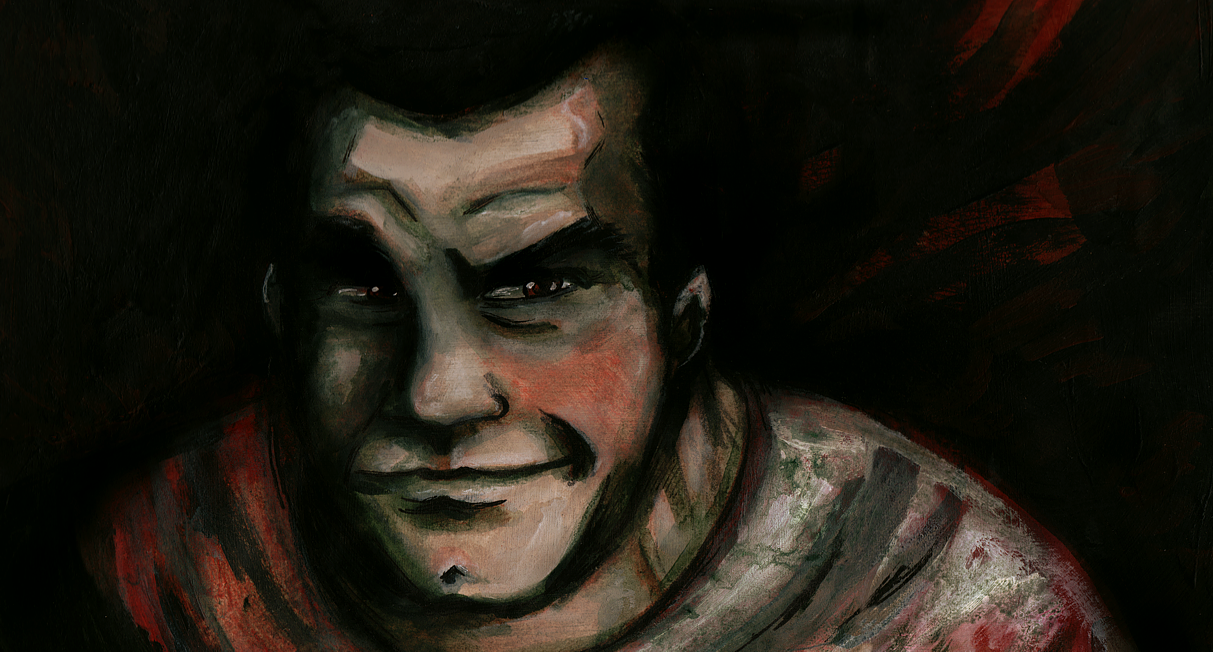 Acrylic Negan by lupienne