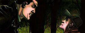 TWD Comics - Negan and Brandon by lupienne
