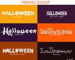 Halloween Font Pack #SHxsteeinglass