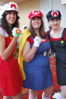 Mario Ladies at Connecticon by Imasupermuteant