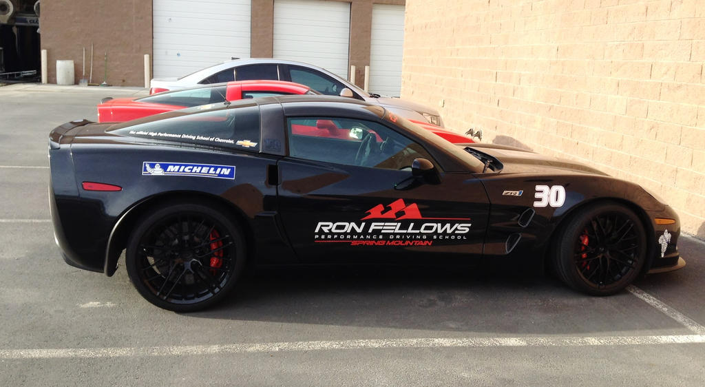 Ron Fellows Black Corvette by AthenaIce