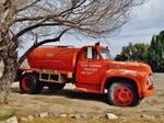 Orange Retired Fire Truck