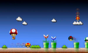 Super Mario game2 wallpaper by Leikoo