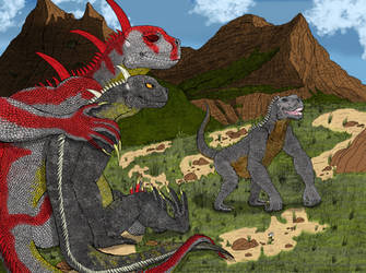 Giant Goobus Family (Colored) by RCWikkydArtist
