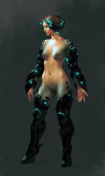 Cyborg girl by Aberiu