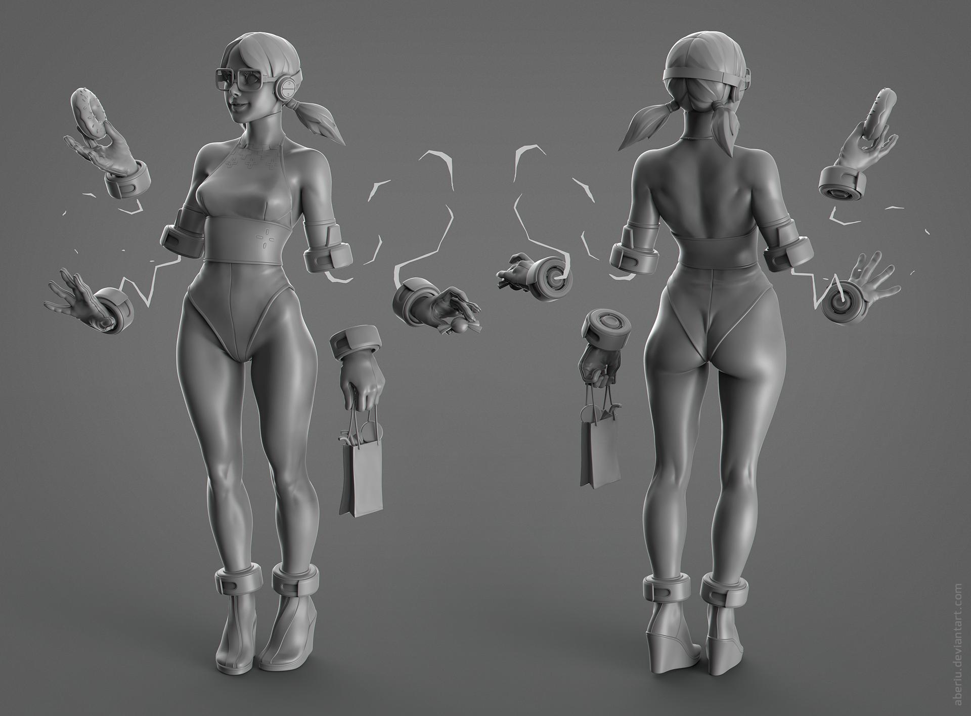 Wii U girl clay
