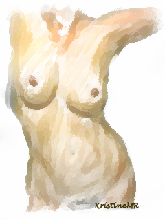Female Nude Study in Photoshop by popnhoney