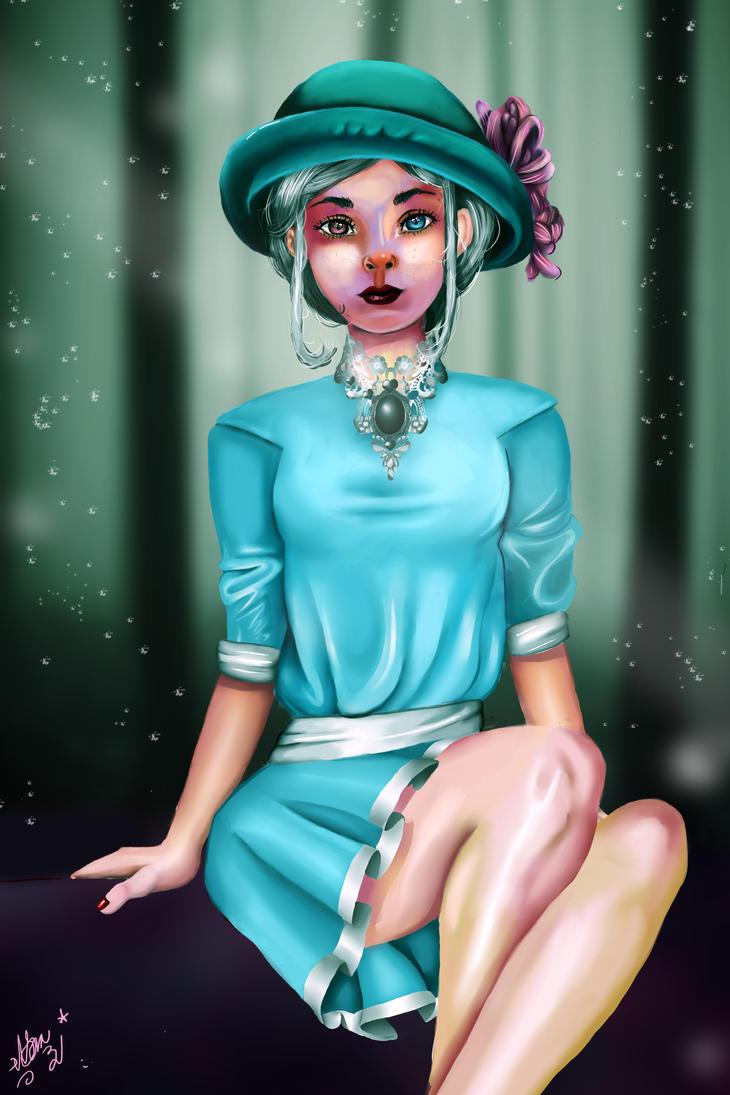 Girl with heterochromia by RoryDjoghurtt