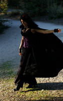 Stock - Gothic Lady With Cloak by Mahafsoun
