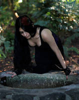 Stock - Gothic Lady By The Well by Mahafsoun