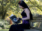 Stock - Gothic Girl Reading