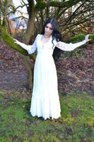 Stock - Goth In White Dress by Mahafsoun