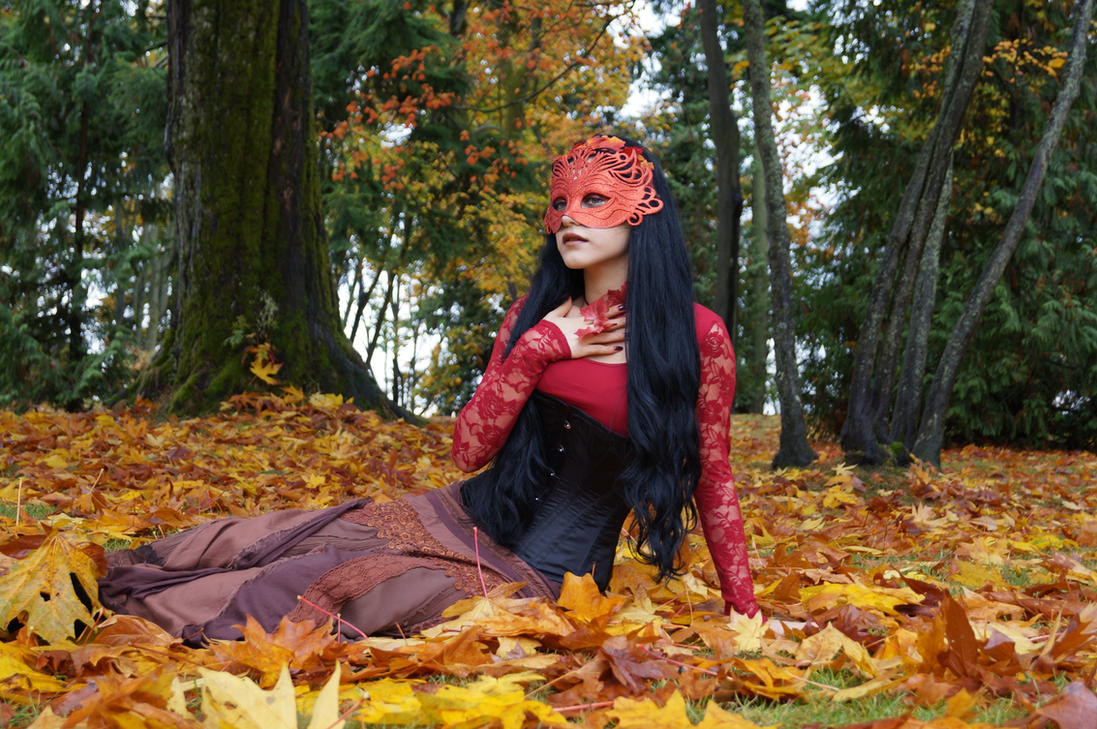 STOCK - Lady Autumn by Mahafsoun