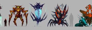 Creatures Doodles by ArtDoge