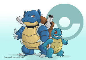 Squirtle and Blastoise