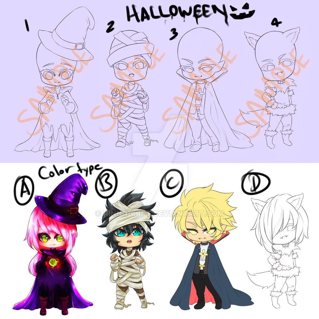 YCH Halloween Open by Rinnn-Crft