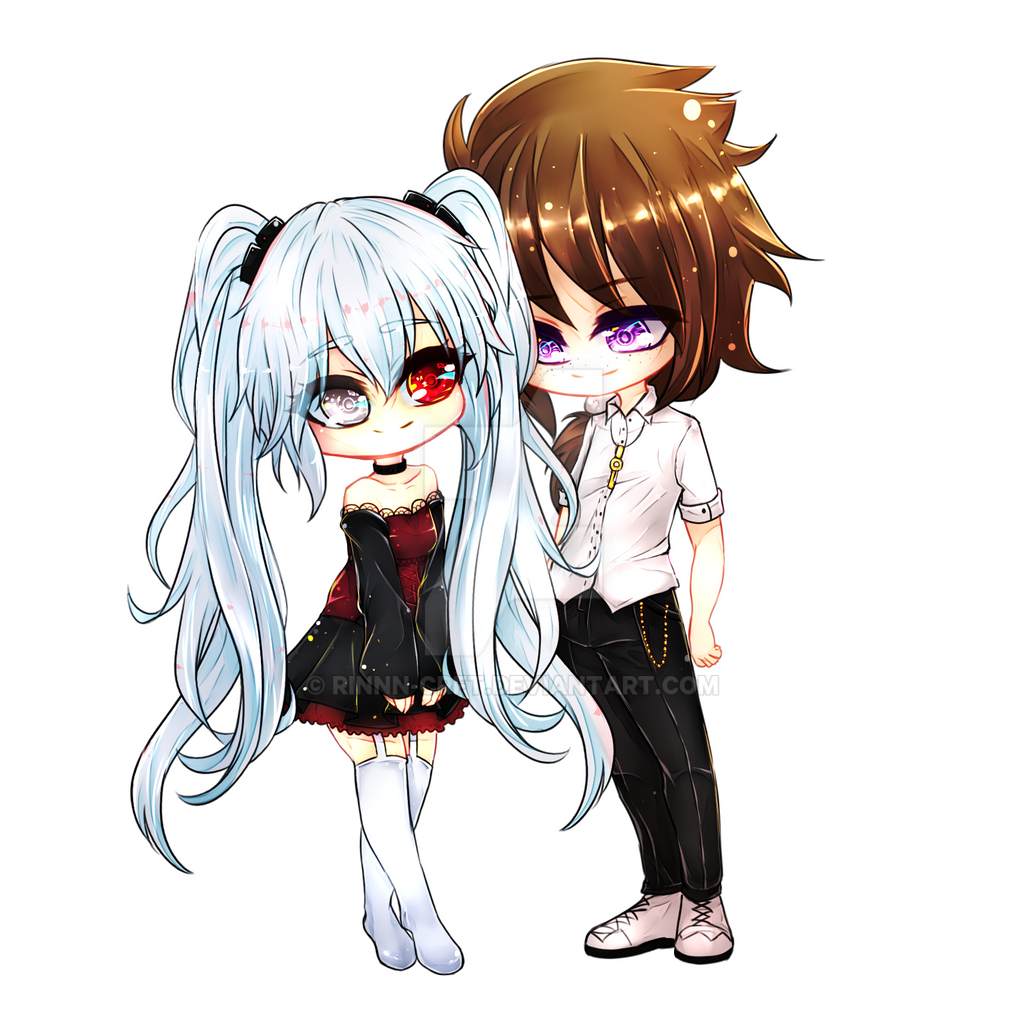 Chibi Couple Commission [1/2] by Rinnn-Crft