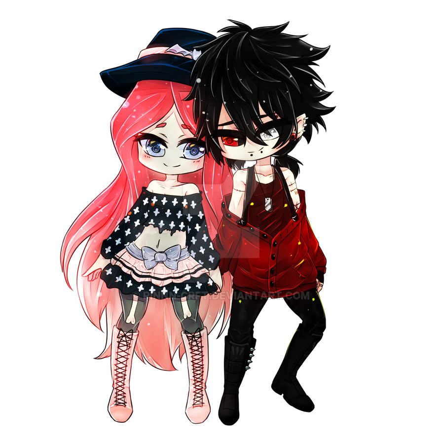Chibi Couple Commission [2/2] by Rinnn-Crft