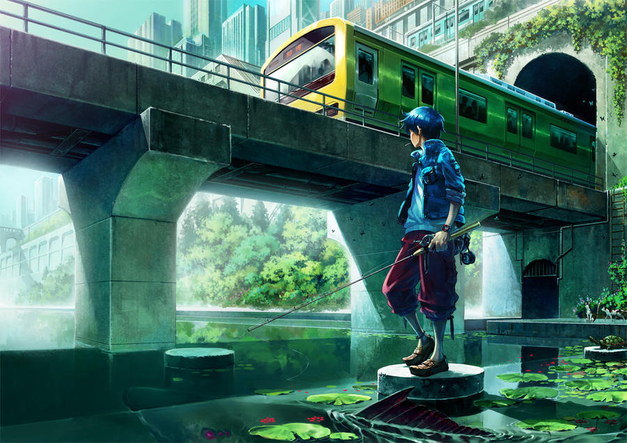 What Type of Art Do You Like? The_city_fishing_by_oro_p-d3juh6x