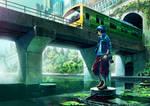 The city fishing